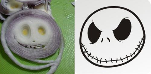 foods that look like famous people jack skellington onion
