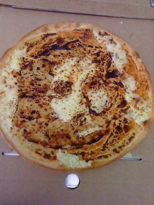 foods that look like famous people jesus christ pizza