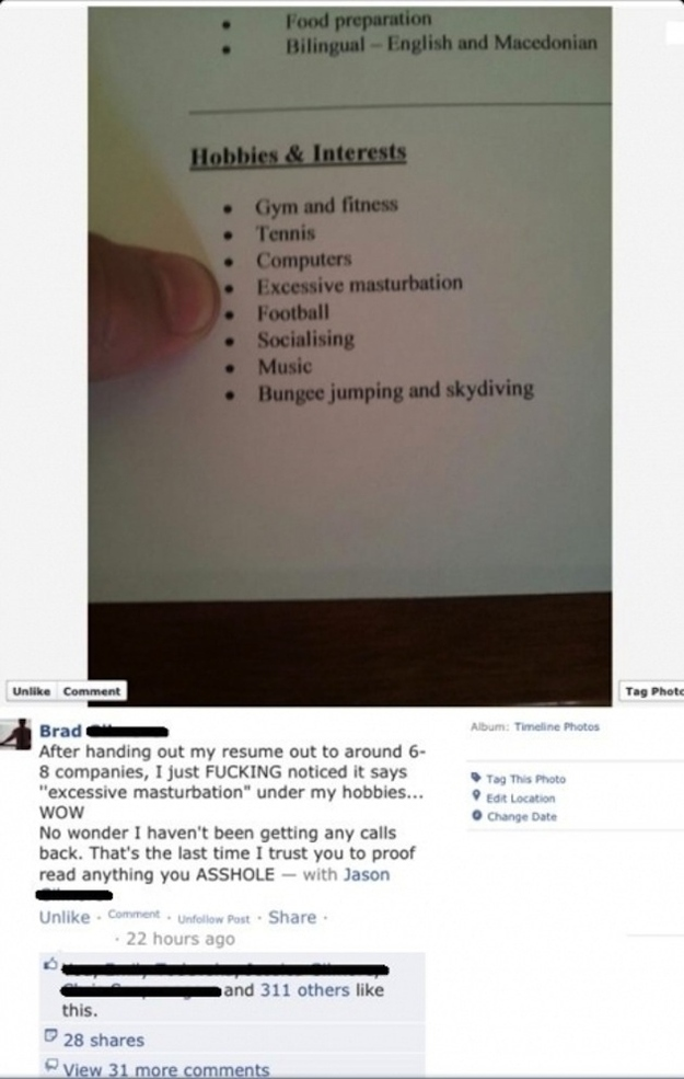 This resume with a hidden hobby: