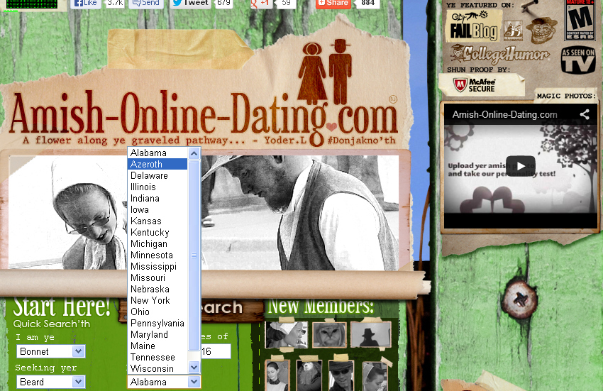 Motto: MEET BEAUTIFUL AMISH SINGLES FOR DATING, LOVE AND ROMANCE, TONIGHT!
