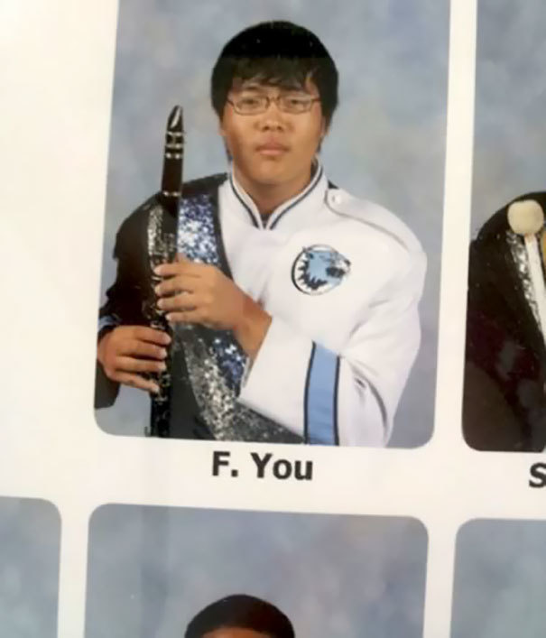 Who needs a yearbook quote when you have this name?