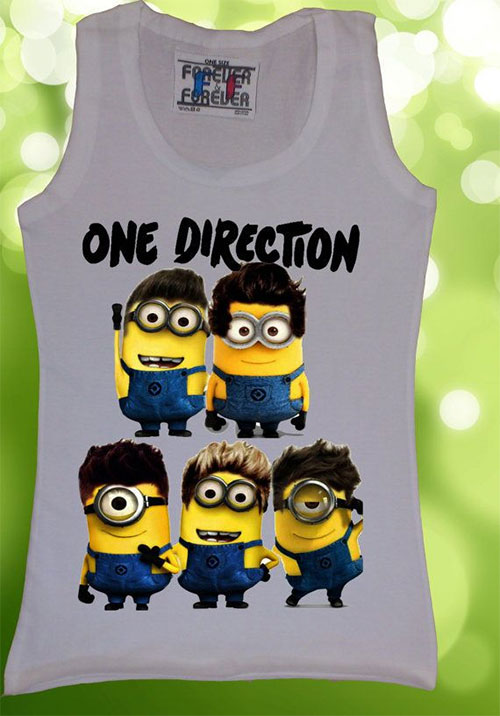 one direction minion shirt