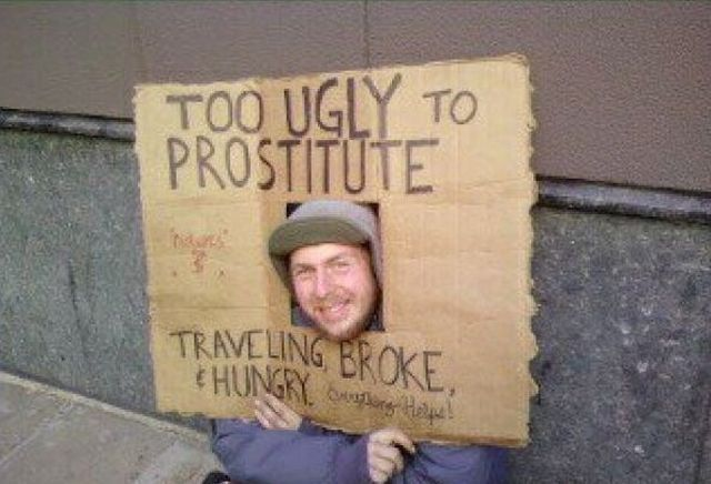 Homeless Signs with a Sense of Humor (51 pics)