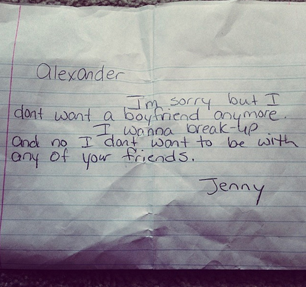 Funny Break Up Letters From Kids, Break Up Letters